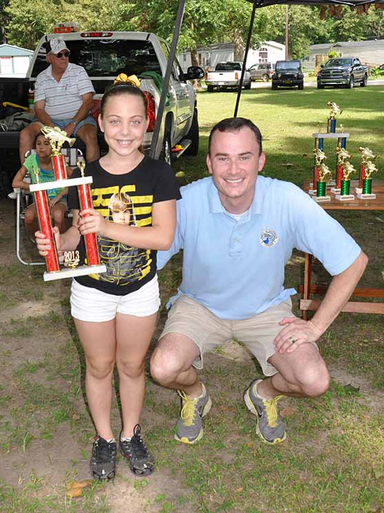Biggest Fish Overall Adriana Guice pictured with Councilman Chris Loar.  Photo by Teri Henry