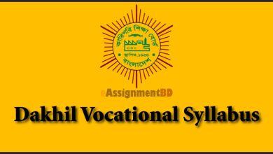 Dakhil Vocational Syllabus