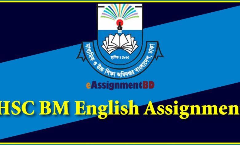 HSC BM English Assignment