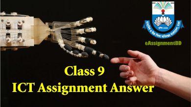 Class 9 ICT Assignment