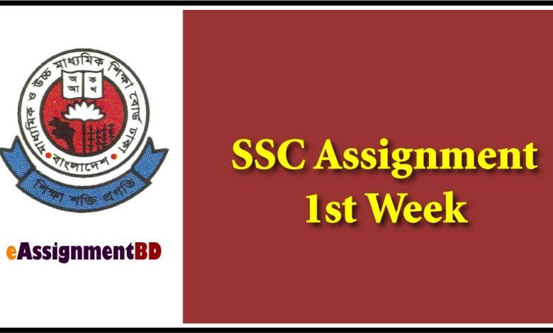 SSC Assignments 1st week