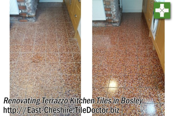 Renovating Terrazzo Kitchen Tiles in Bosley