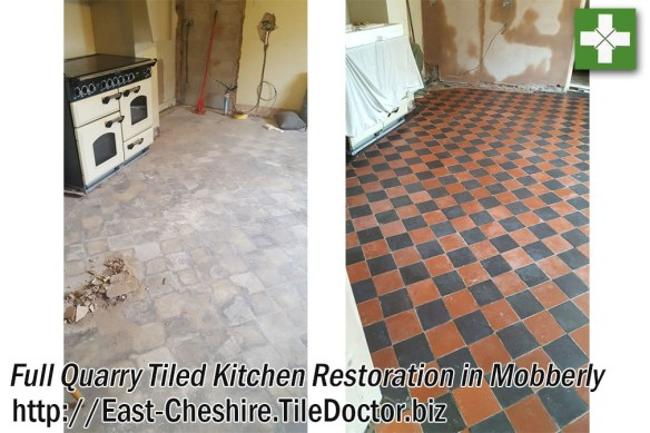 Quarry Kitchen before and after full Resotration in Mobberly