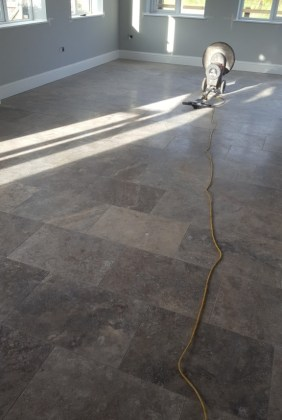 Polished Travertine Floor Before Cleaning Eaton