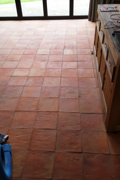Spanish Terracotta Floor Tiles After Cleaning Alderley Edge