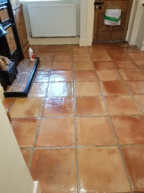 Terracotta Tiled Floor After Cleaning Knutsford