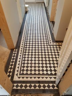 Black White Victorian Hallway Floor After Cleaning Hale Barns