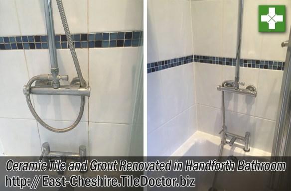 Ceramic Tiled Bathroom Wall Before After Renovation Handforth
