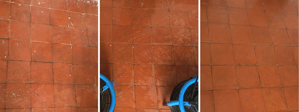 Renovating a Victorian Quarry Tiled Kitchen Floor in Hale Barns