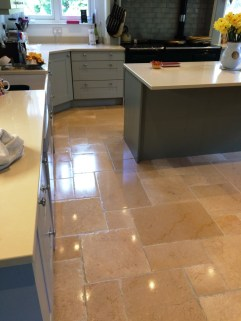 Filthy Limestone Kitchen in Icklesham After Cleaning