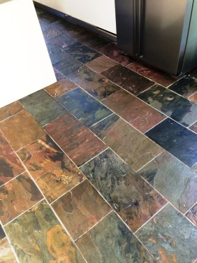 Slate floor after cleaning in Mayfield
