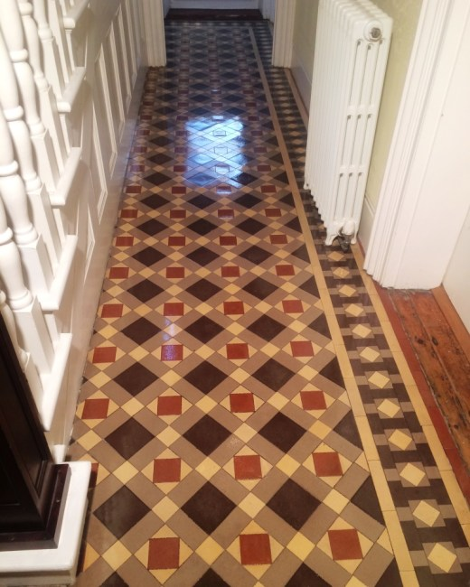 Victorian Tiled Floor After Cleaning Heathfield