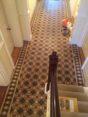 Victorian Tiled Floor Before Cleaning Heathfield