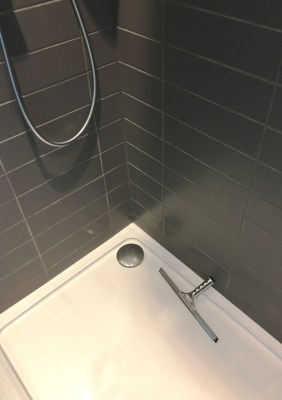 Grout Before Changing Colour in Eastbourne Bathroom