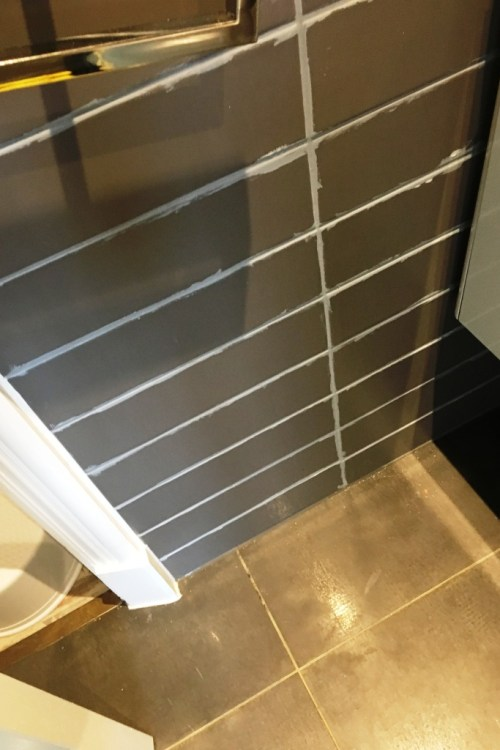 Grout During Changing Colour in Eastbourne Bathroom