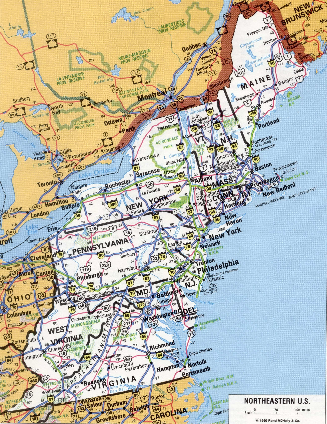 Roads Map Of Us Maps Of The United States