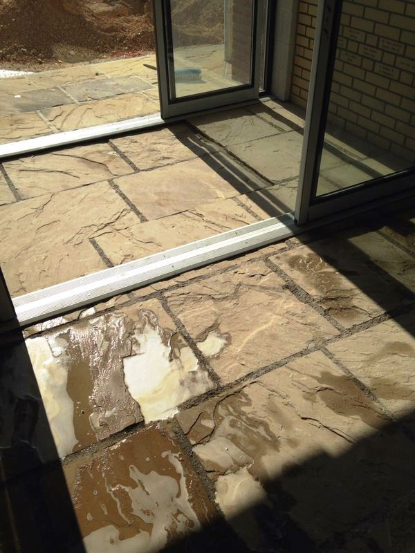 Flagstone Floor in Driffield Farm Office After Cleaning