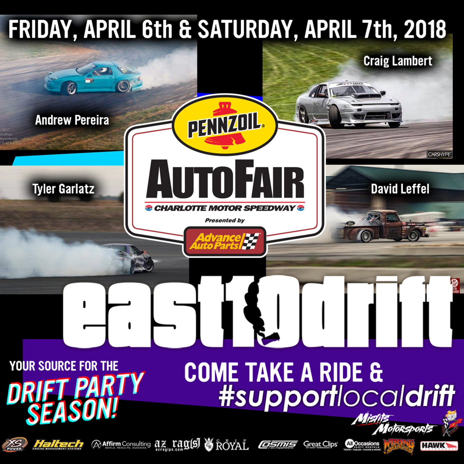 Auto Fair Drift Demo EastDrift - Charlotte motor speedway events car show