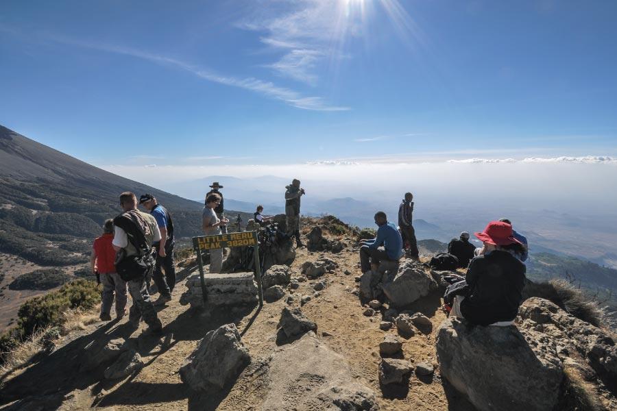 Climbing Mount Meru peak 3820 meters