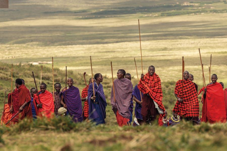 Ngorongoro Conservation Area Masai
