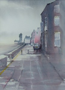 Grey morning. Watercolour by Alan Noyes