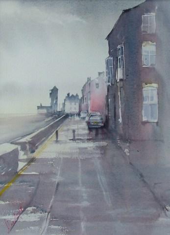 Grey morning. Watercolour by Alan Noyes