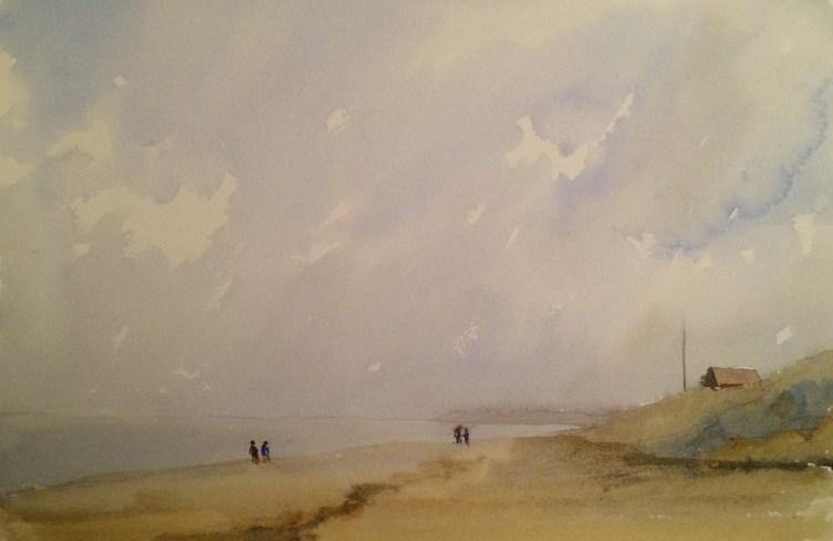Sea - watercolour. Artist Hugh Jenkins