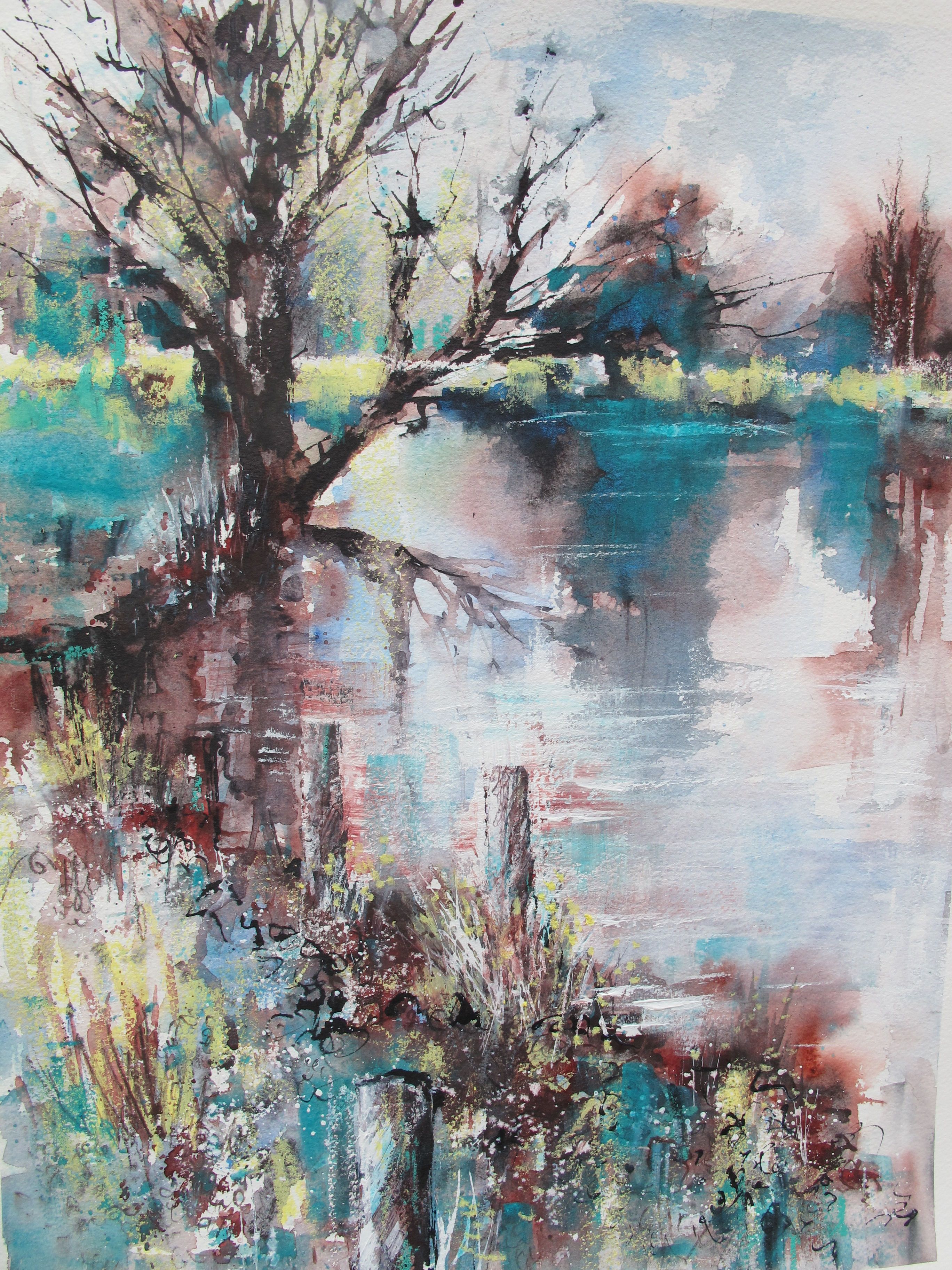 On a clear calm day, River Stour by Chris Lockwood