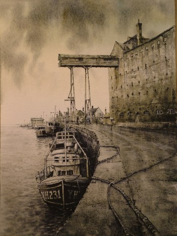 Wells. Watercolour by Reg Siger