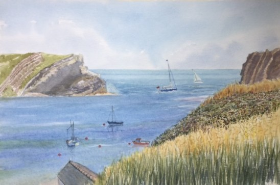 Entrance to Lullworth Cove by Rita Browne