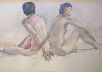 Sugar, two views. Watercolour by Susanne Taylor