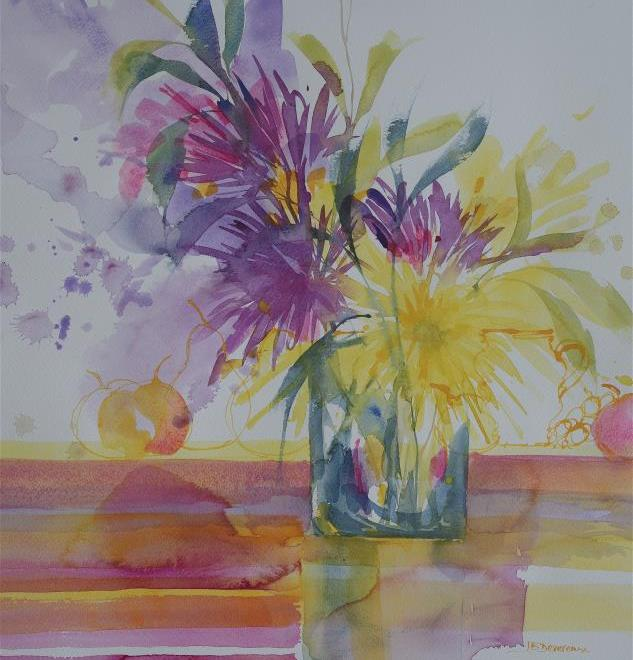 The Daniel Smith Watercolour Award: Fruit and Flowers by Jackie Devereaux