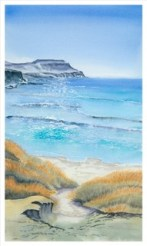 Calgary Bay. Watercolour by Denise Schoenberg