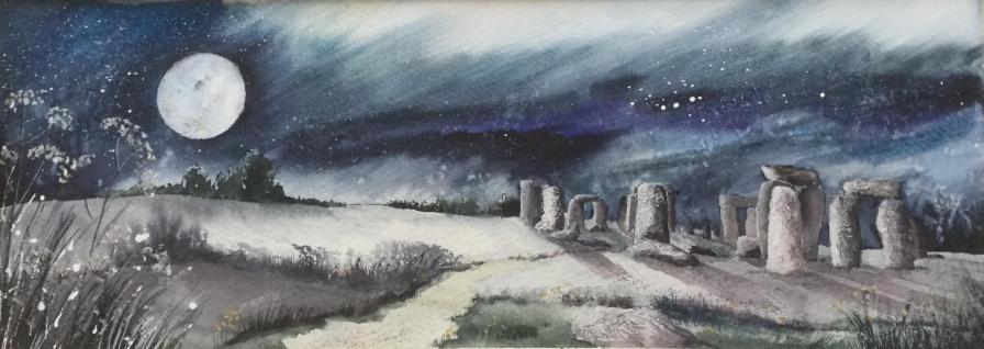 The Sorrell Award: Henge in moonlight by Caroline Furlong