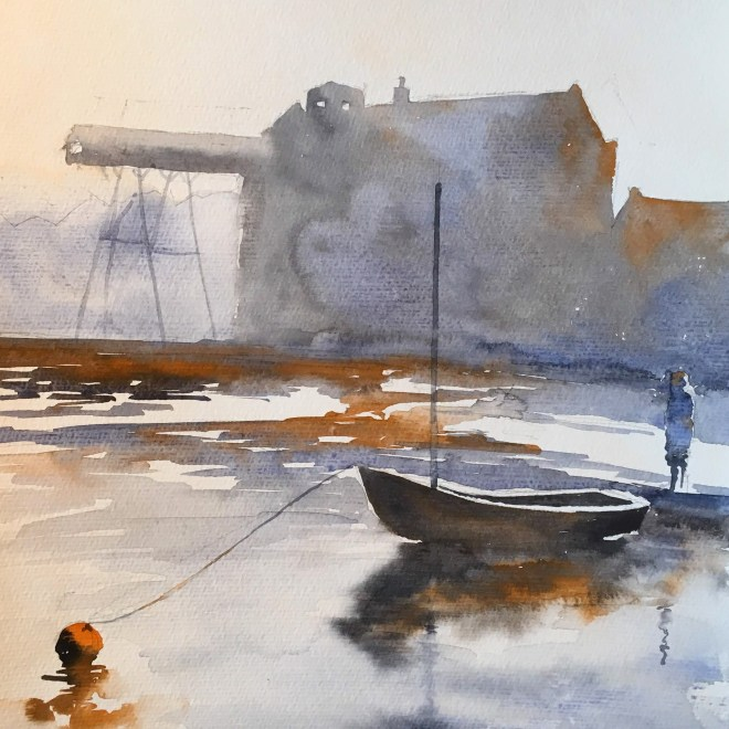 The orange buoy by Penny Newman (unframed)