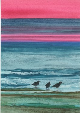 *SOLD* Redshanks at Dawn by Jan Couling