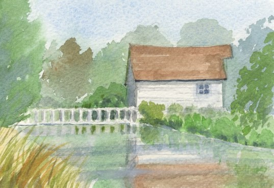 Mill and Pond by Rita Browne