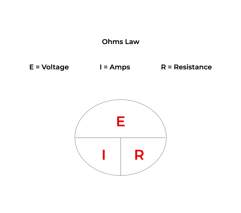 Ohms Law Calculation / formula used for electricity diagnostics in appliance repair