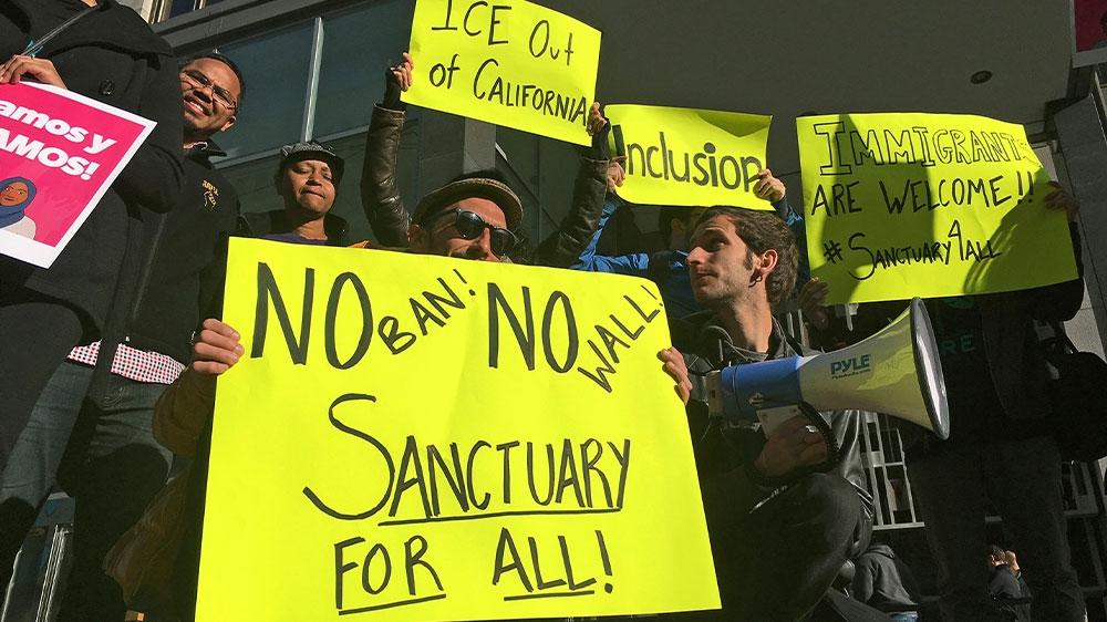 Sanctuary protest