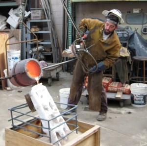 Metalsmith Dan Romo at work
