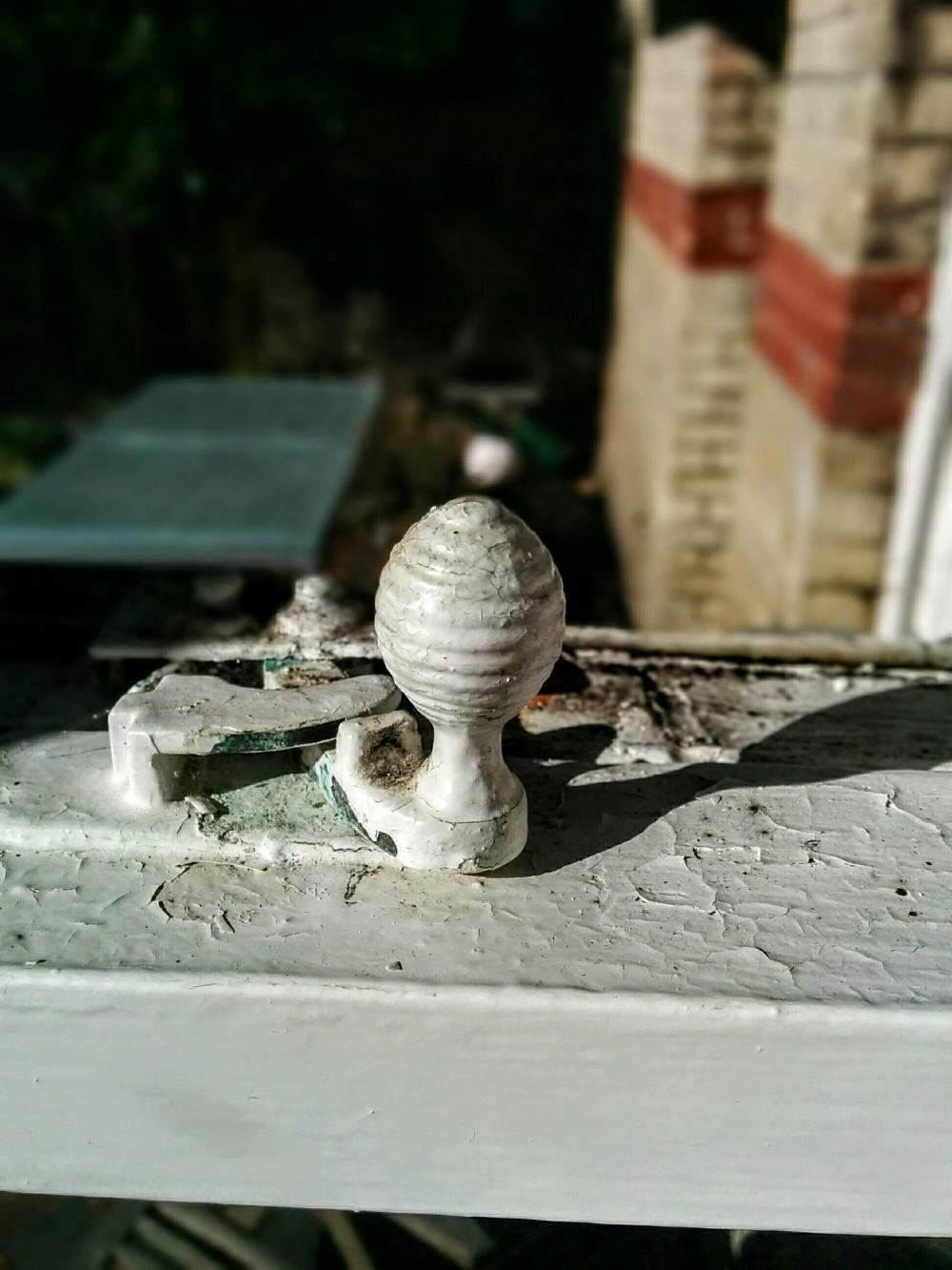 Acorn latch on window sash | Eastbourne Diary