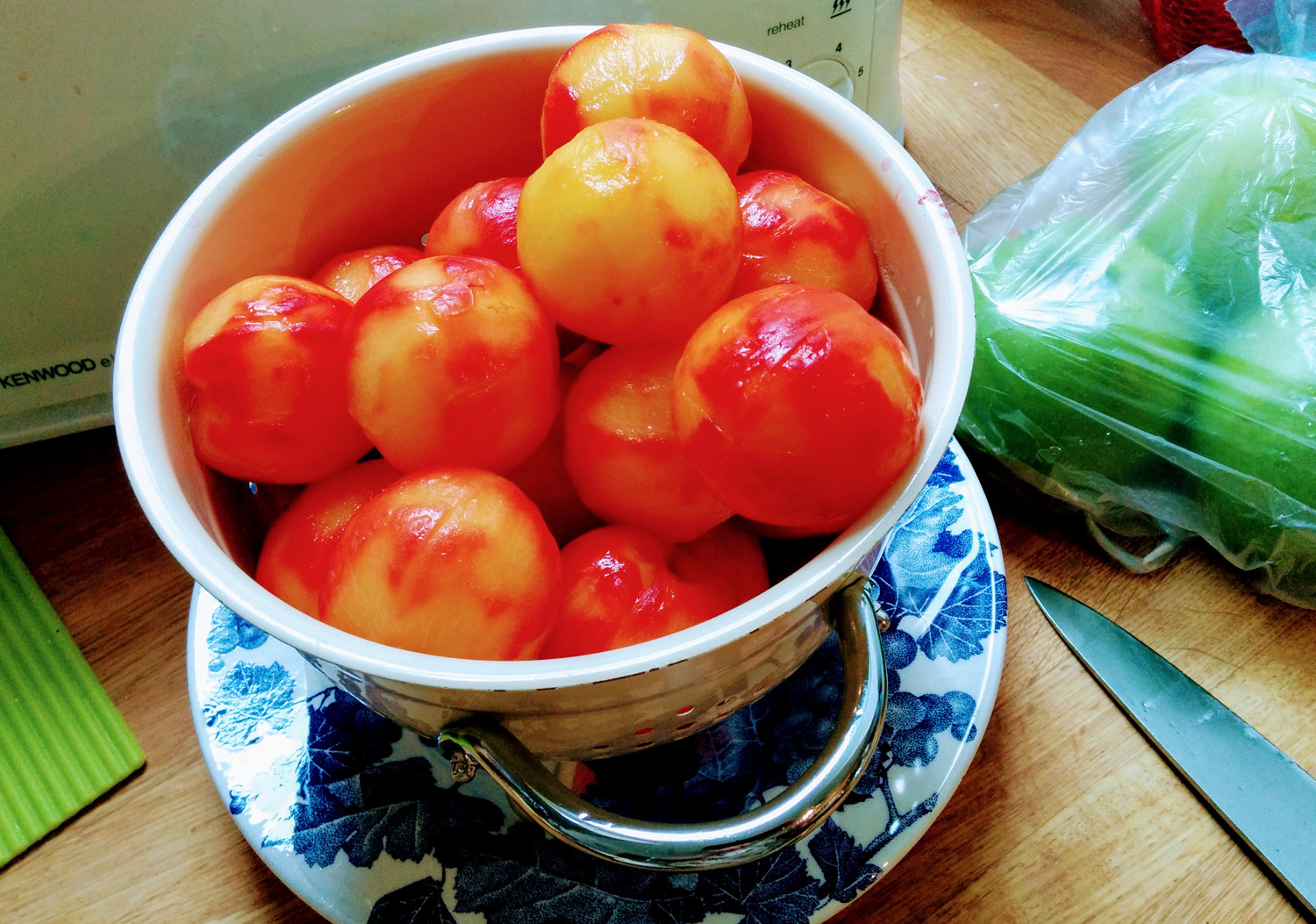 Peeled plums for jam recipe