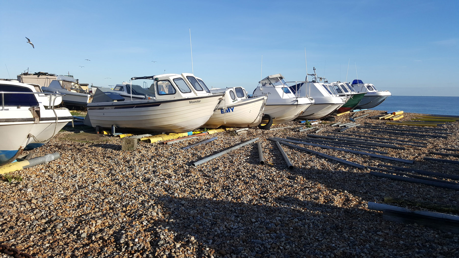 boats blue sky beach boat | An Eastbourne Diary