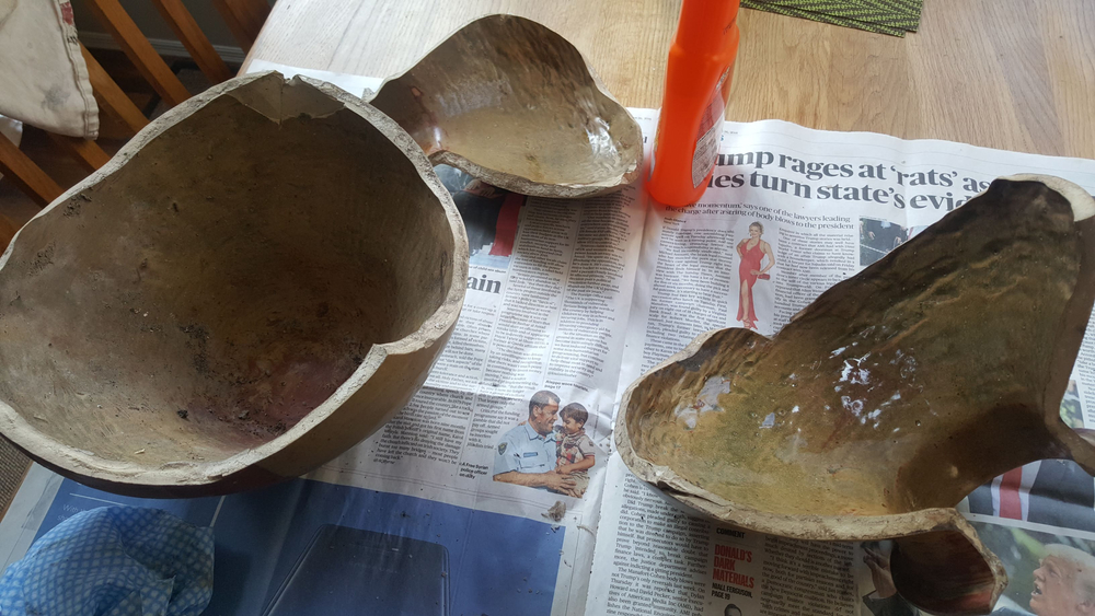 Mum's pot in pieces