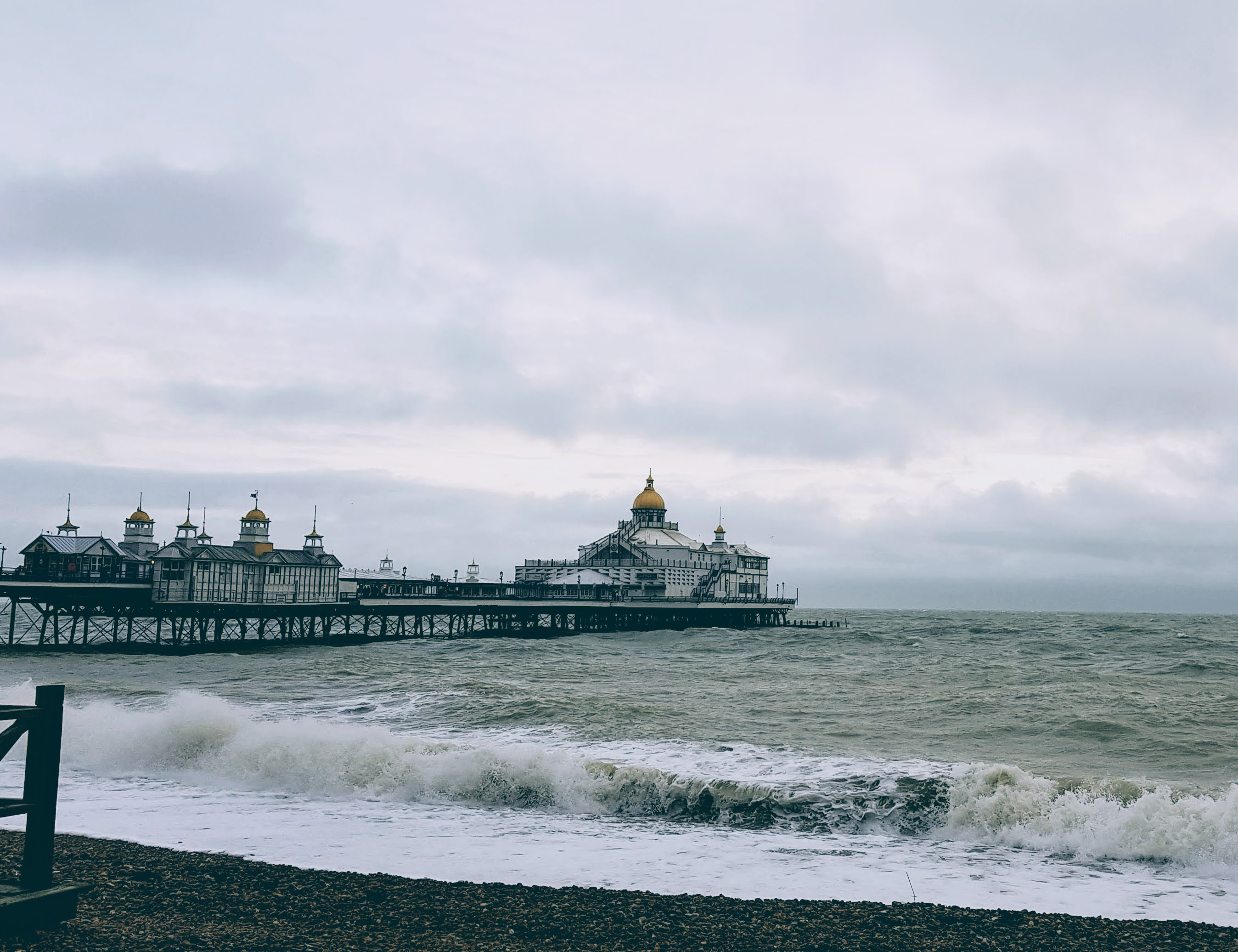 Eastbourne Pier, Boxing Day high tide