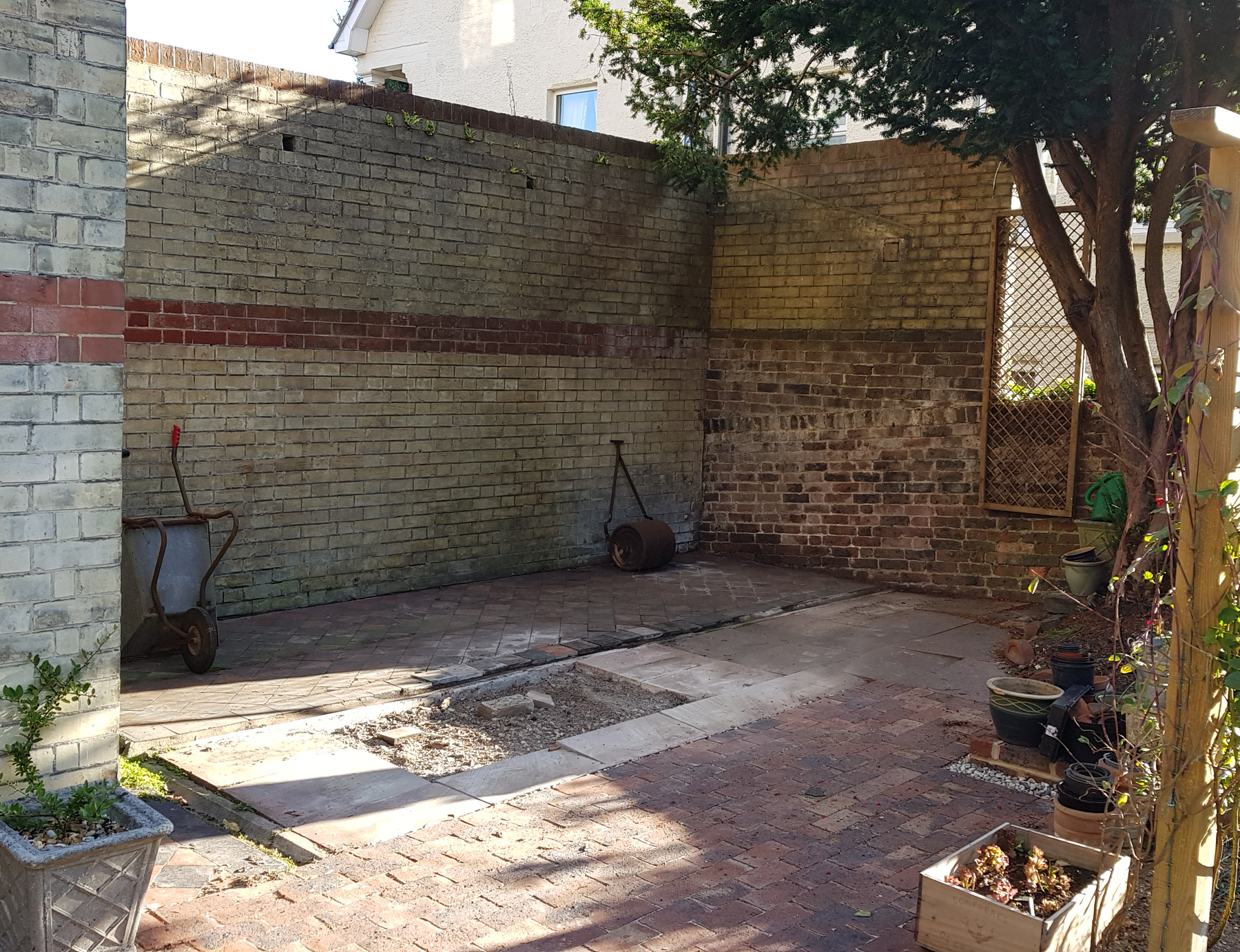 bare space for new potting shed