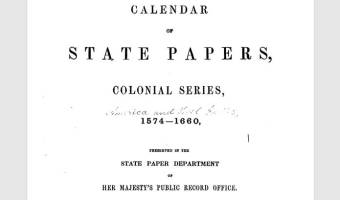 Calendar of State Papers – A little known resource that can be a treasure trove