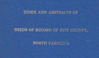 Researching Pitt County? Snap this up while it's still available!