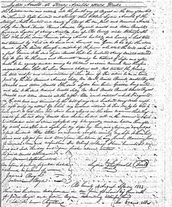 Lydia ARNOLD to Henry ARNOLD Heirs Deed: Ormond Arnold, Sally Cox, Noah Arnold, Burrel Arnold, Bryant Arnold and Allen Arnold