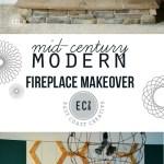 Mid Century Modern Fireplace Update